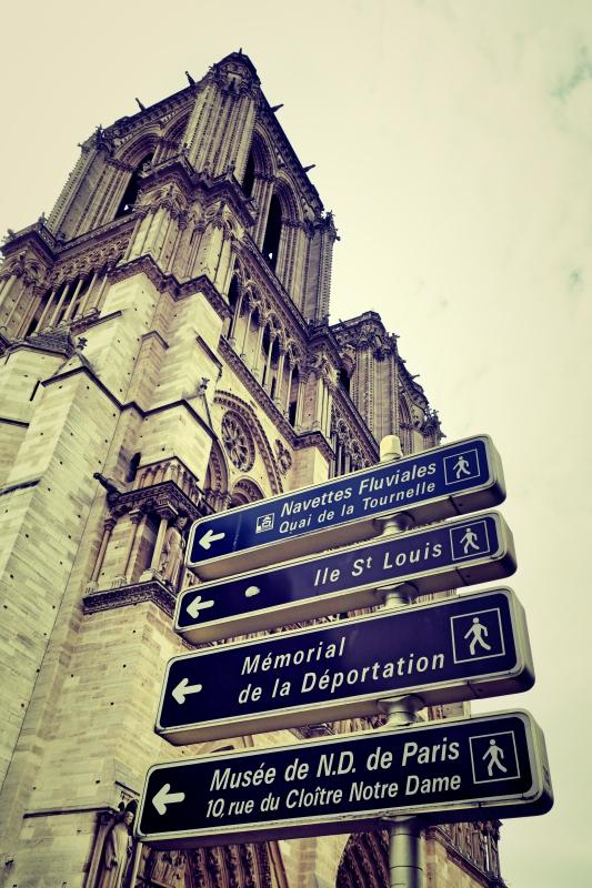 notre schild - Wir waren dann mal in Paris