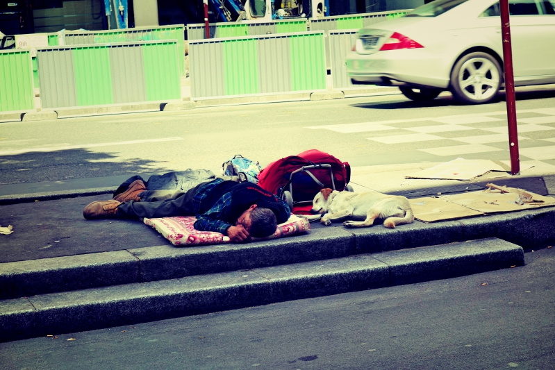 obdachlos - Wir waren dann mal in Paris