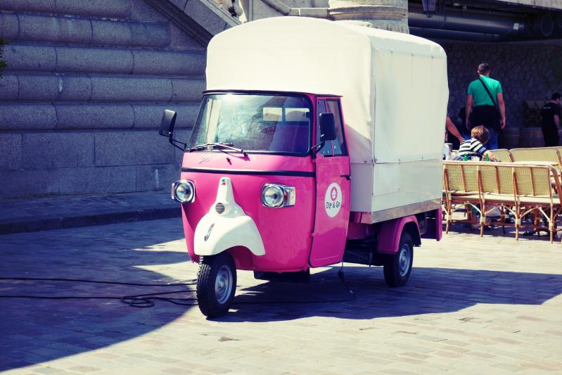 eiswagen rosa - Paris - ein Kurzeindruck