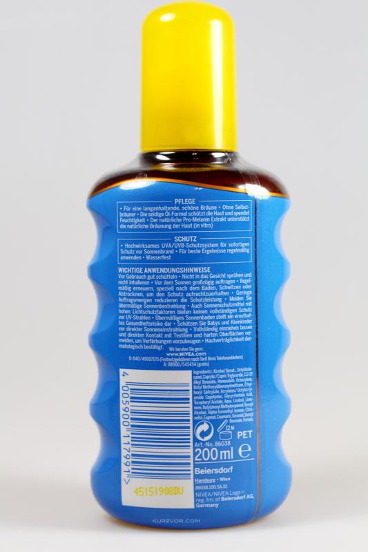 hinten - Nivea Sun Protect & Bronze Sonnenöl