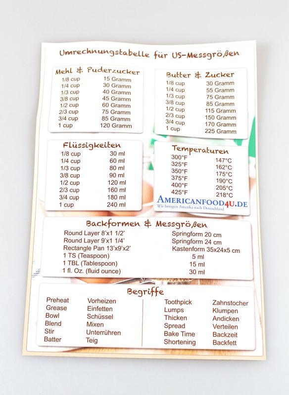 umrechnung - Americanfood4u.de
