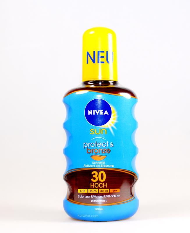 vorne 2 - Nivea Sun Protect & Bronze Sonnenöl