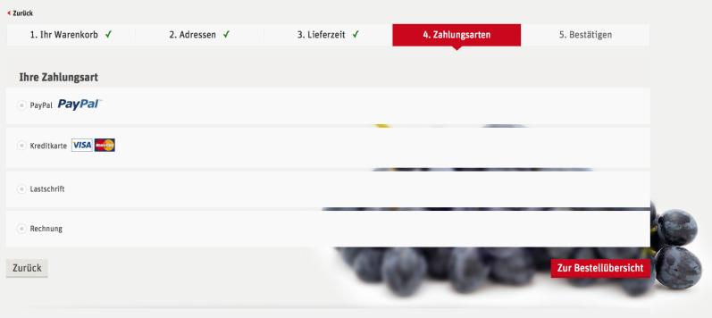 zahlungsart - Rewe Lieferservice