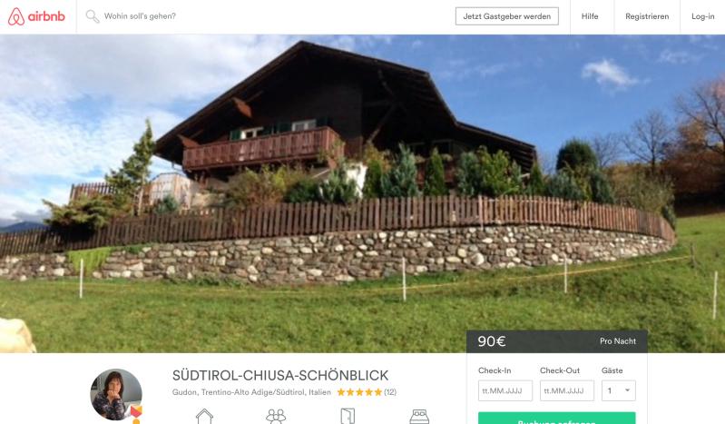 start - Ein Urlaub mit Airbnb