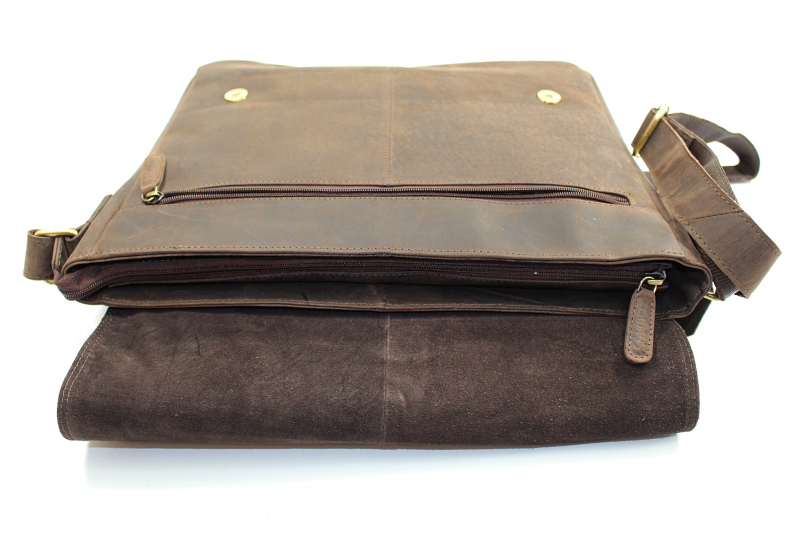 reissverschluss - Leabags Messenger Bag Oxford