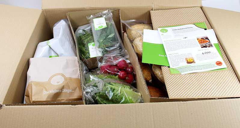 offen verpack - Hello Fresh Kochbox