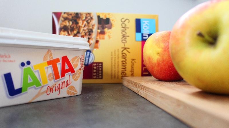 zutaten - Apple Crumble mit Schoko & Karamell