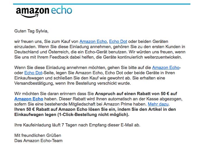 Mail - Amazon Echo - Erste Schritte