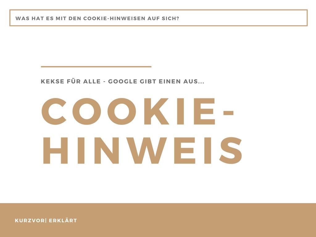 Cookie - Brauche ich einen Cookie Hinweis?