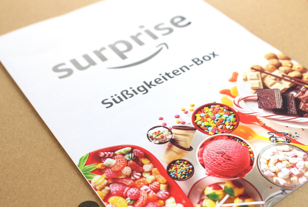 zettel - Amazon Surprise Süßigkeiten-Box