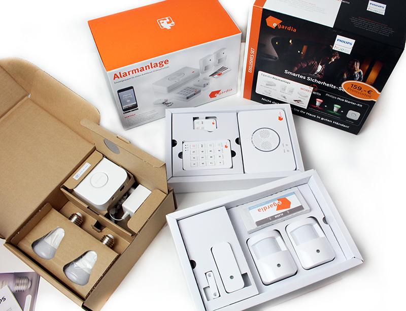 total - Egardia Smart Home Sicherheitsset mit Philips Hue