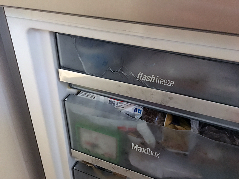 risse - Unser Albtraum mit einem Kühlschrank