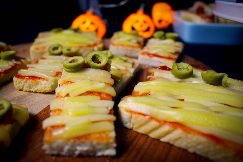 toast - Halloween Snacks für die perfekte Party