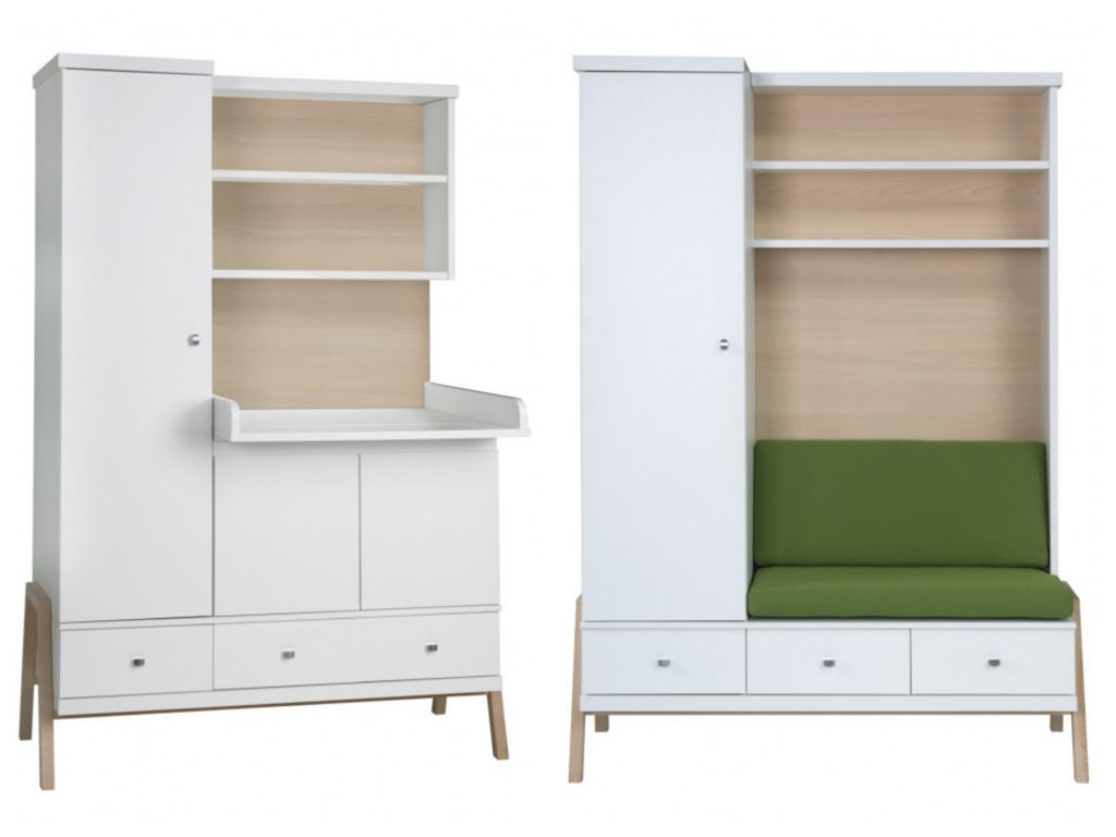 Schardt Schrank mit Wickelkommode Holly Nature Kindermöbel