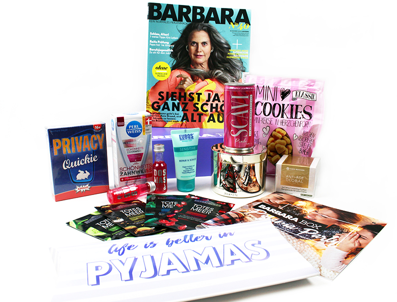 inhalt der barbara box - Pyjama Party mit der Barbara Box