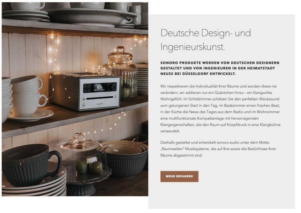 screenshot homepage sonoro elite 1024x723 - sonoro Elite Musiksystem & Gewinnspiel