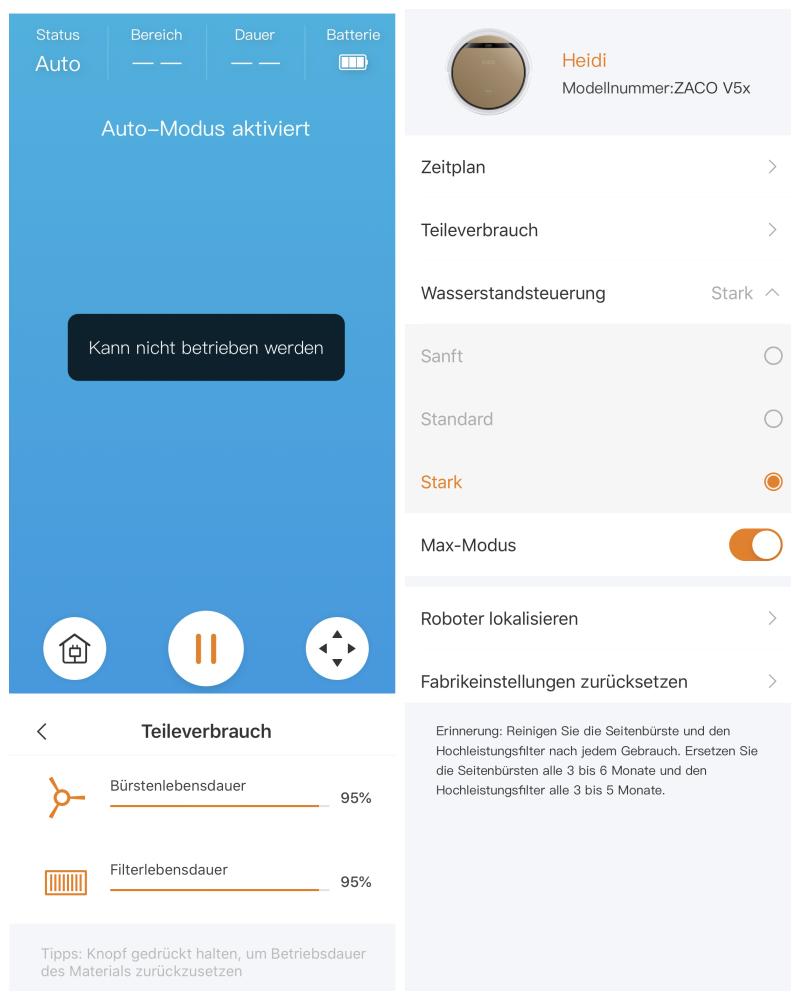 app1 - Zaco V5x Saugroboter mit Wischfunktion