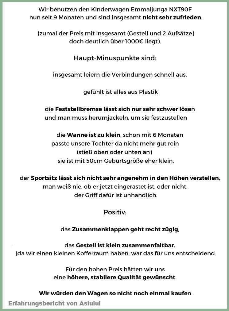 Neu Asiulul - Emmaljunga Kinderwagen im Langzeitttest