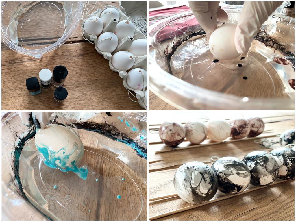Marmoreier - Ostereier färben - 3 einfache Trends zum Selbermachen