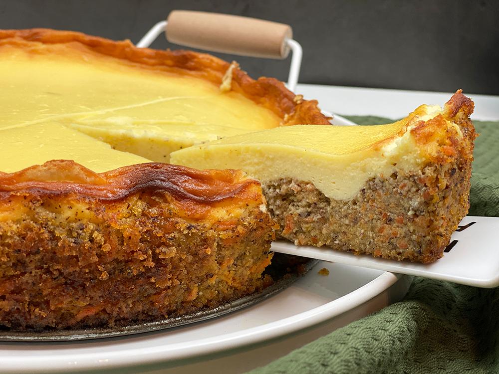 cheesecake voll - Cremiger Karotten-Käsekuchen