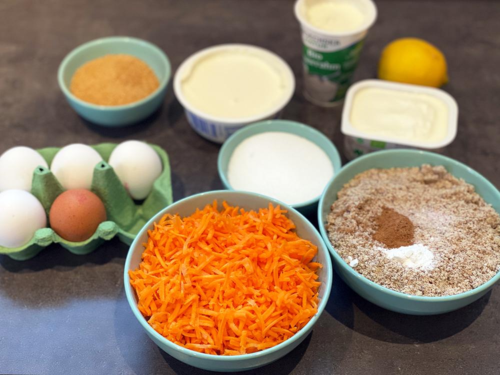 cheesecake zutaten - Cremiger Karotten-Käsekuchen