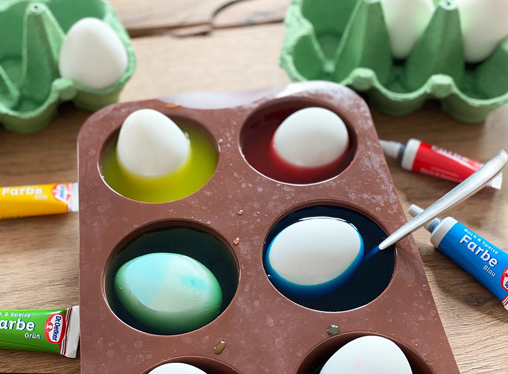pastelleier bad - Ostereier färben - 3 einfache Trends zum Selbermachen