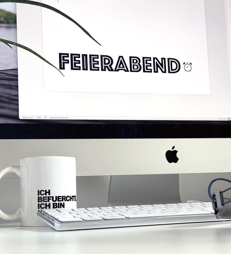 HomeOffice Feierabend 930x1024 - Mehr Konzentration und Entspannung im HomeOffice