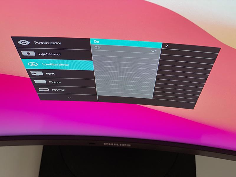 einstelllungen - Curved Monitor von Philips - ein HomeOffice Allrounder?