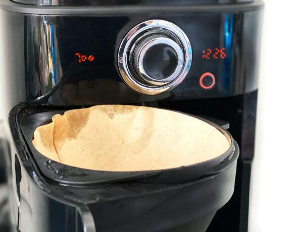 filtertuete 600x460 - Philips Grind und Brew Filterkaffeemaschine